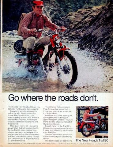 Ct Ad Go Where Roads Dont on Honda Ct90 Motorcycle Parts