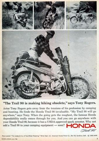 Ct Ad Making Hiking Obsolete on Honda Ct90 Motorcycle Parts