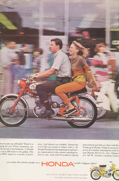 Ct Ad Man And Woman On Bike on Honda Ct90 Motorcycle Parts